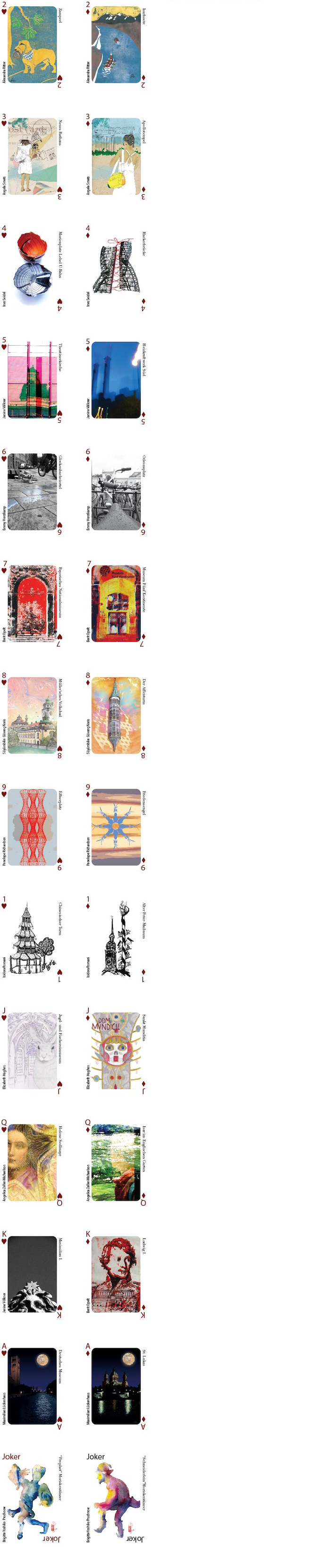 Here is a sampler from our Munich Artists Deck