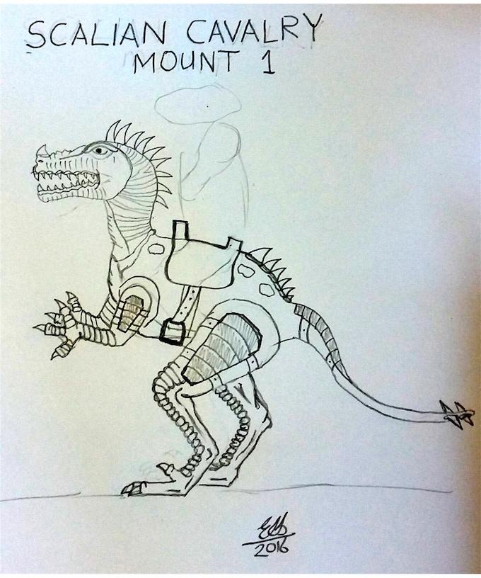 Scalian Cavalry Mount Concept