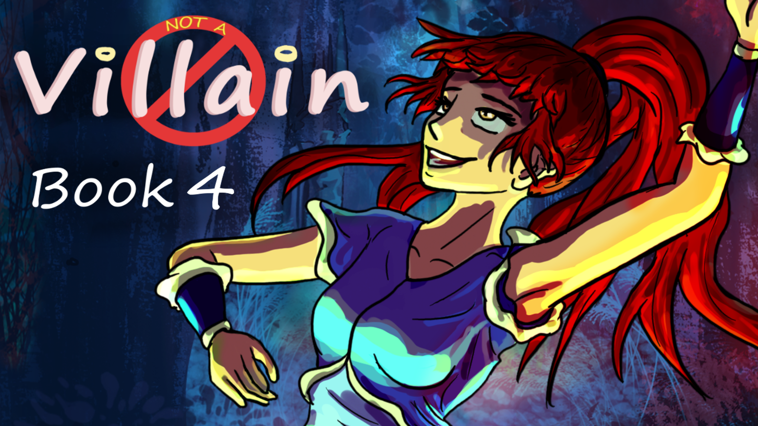 "Book 4 of ""Not A Villain""! Kat plans to enforce pacifism in her villain group, but the group has different ideas. Violent ones."