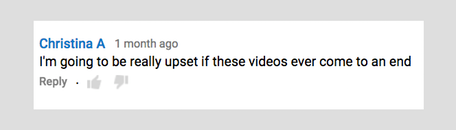 Comment by viewer