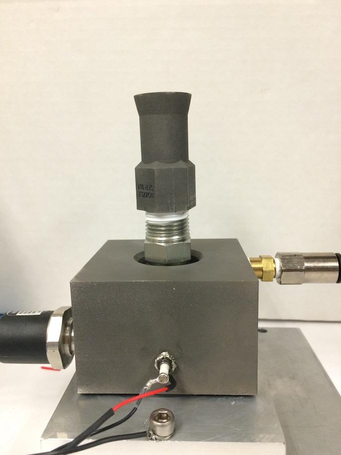 3D Printed Titanium electrolysis propulsion thruster