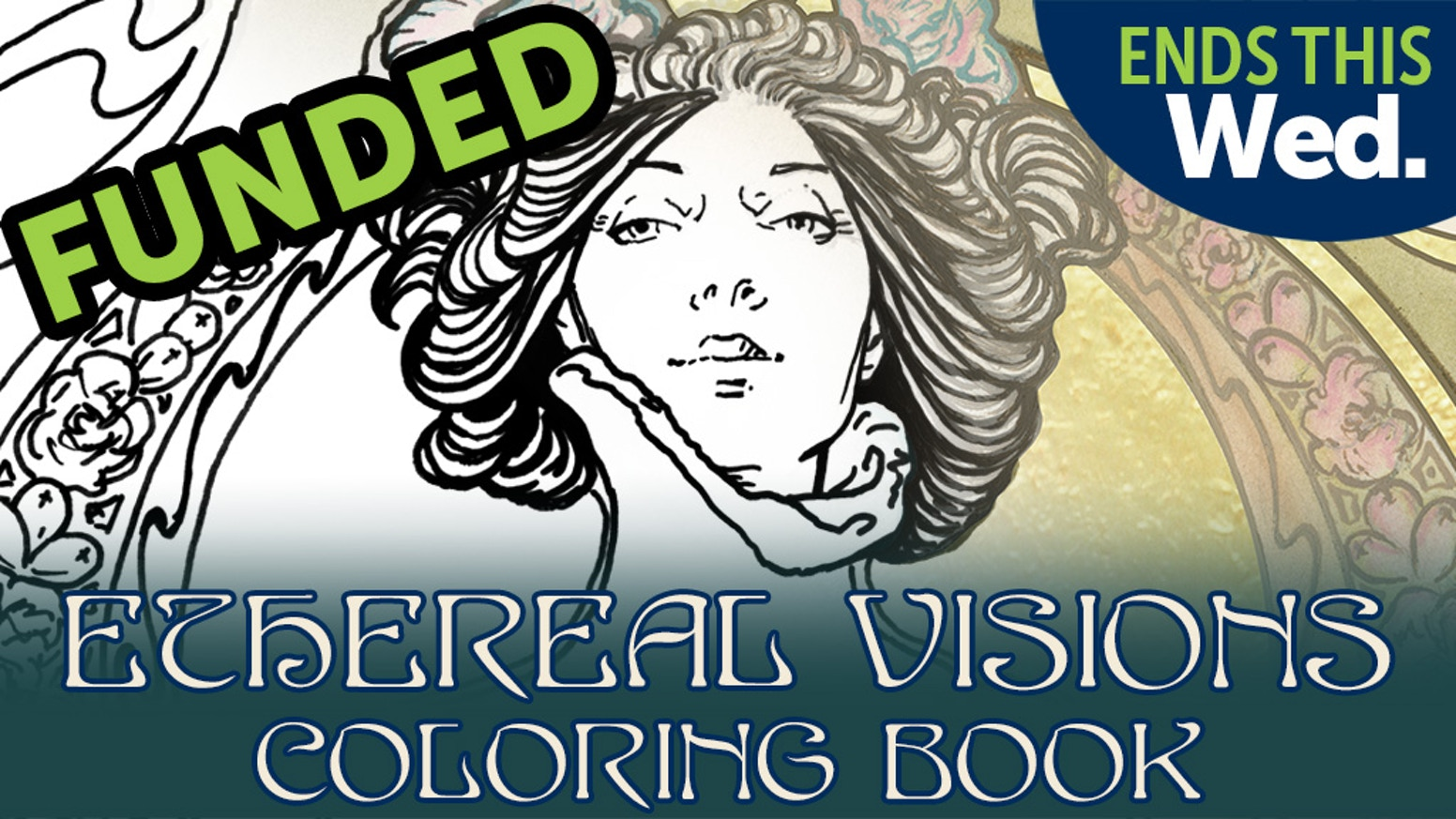 COLORING BOOK based on the Major Arcana from ETHEREAL VISIONS TAROT DECK by Art Nouveau artist Matt Hughes. Full Deck also available!