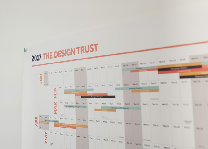 The DREAM PLAN DO wall planner: space for all your appointments & have all the major design/craft events in the UK and abroad, in one place