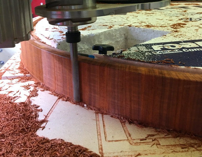 Machining the padauk hoop