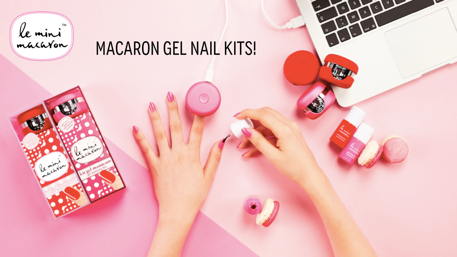 Le mini macaron best 15min gel nail kit the perfect gift by the worlds fastest and most affordable gel manicure kits diy gel nails with a cute macaron lamp when you want where you want solutioingenieria Gallery
