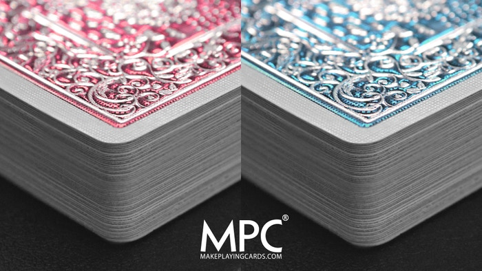 Femininity inspired playing cards with high gloss embossed metallic foil stamped back using state of the art print & production methods