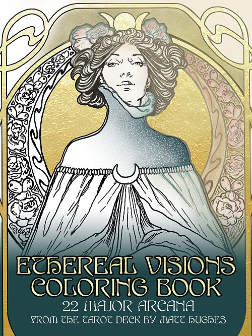 ETHEREAL VISIONS COLORING BOOK Cover