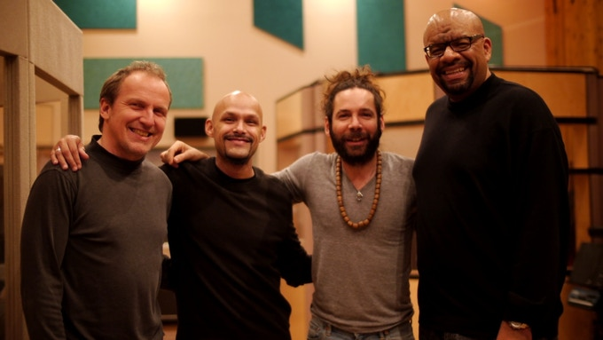 "Miguel Zenón Quartet after recording ""Típico"""