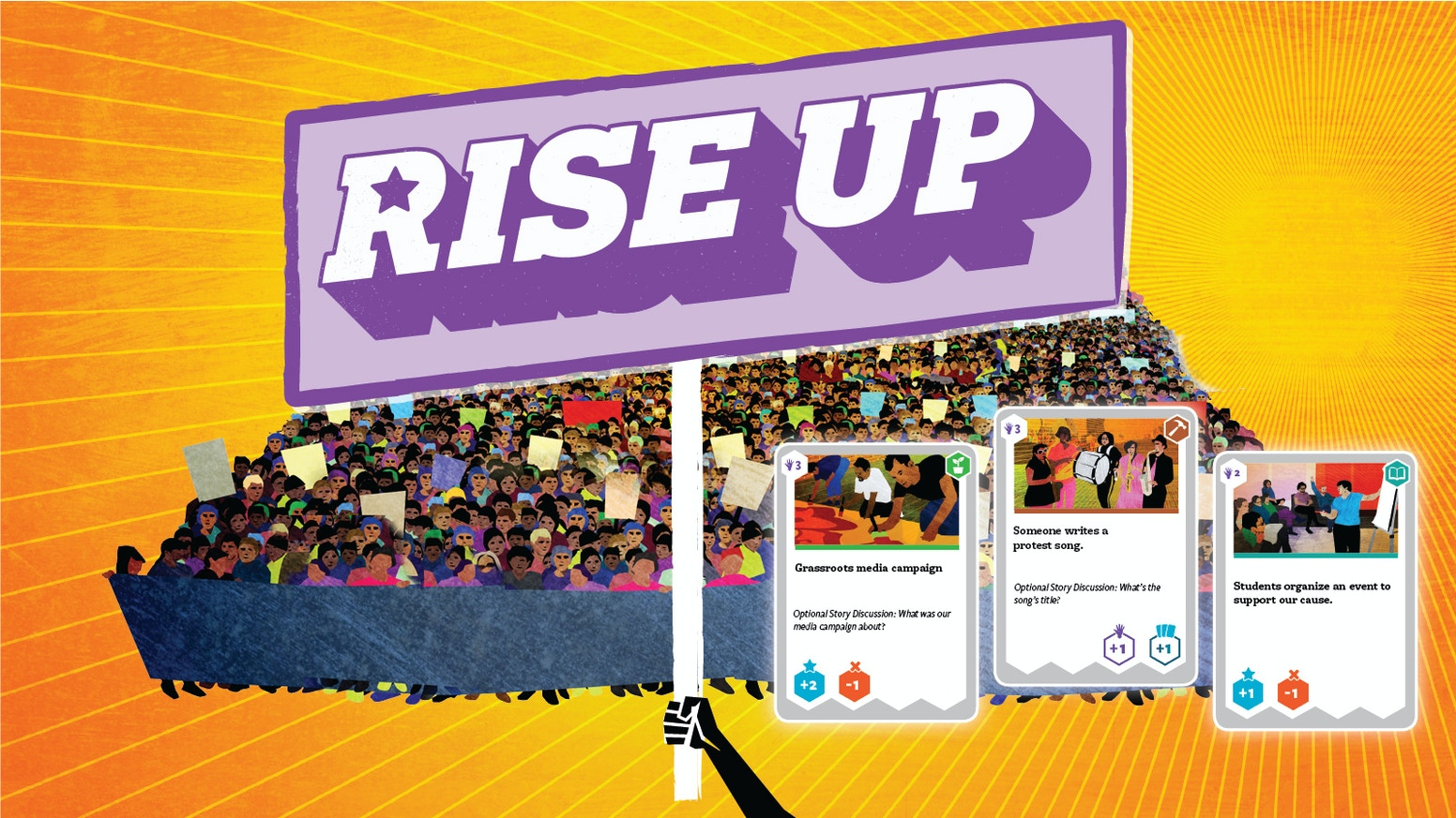 Rise up the game of people and power by toolbox for education and build your movement beat the system a board game about people winning together xflitez Images