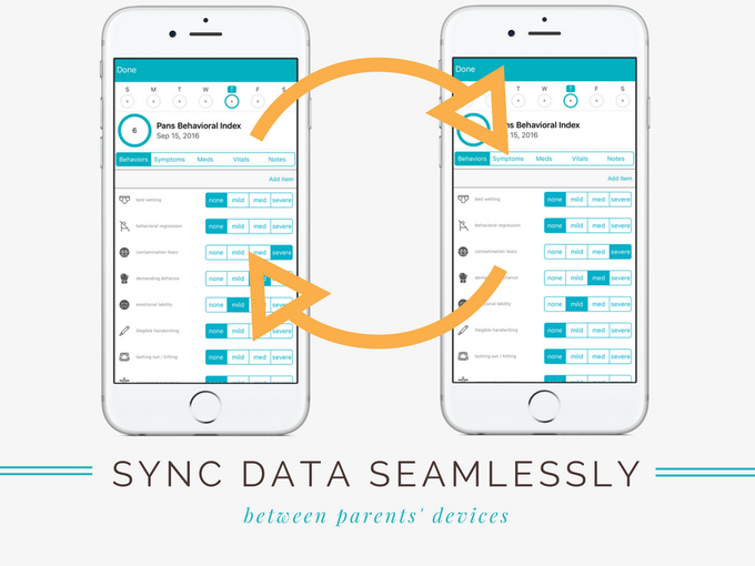 Sync data seamlessly between parents' devices