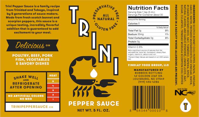 Trini Pepper Sauce Original Label