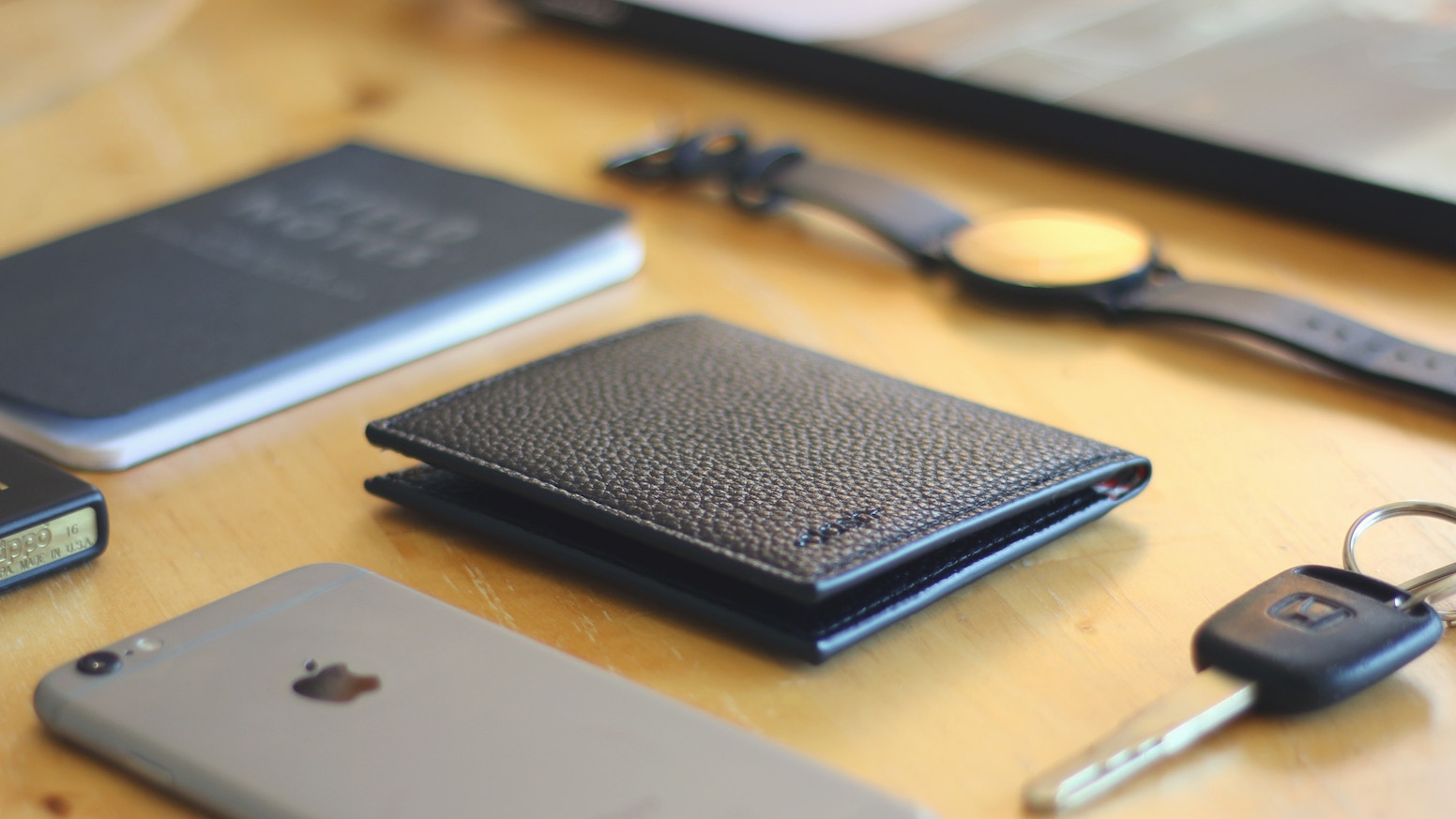 The Best Minimalist Slim BiFold Wallet. Carries everything you need, maintains a super thin profile, and protects your cards w/ RFID