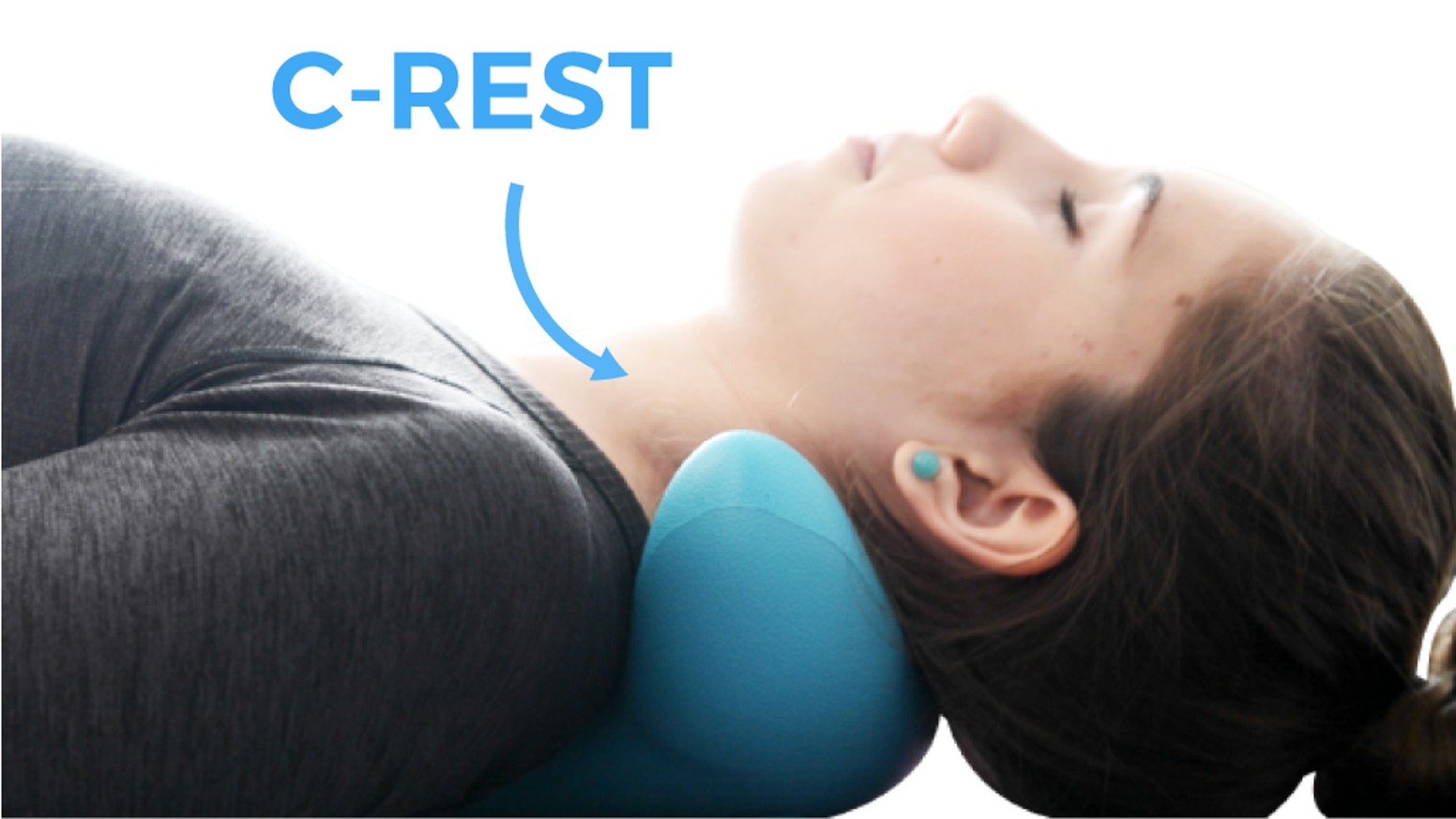 10 minutes! Relieve Tension & Stress  in Neck & Shoulder. C-REST is comfortable personal massager. Portable, so you can rest anywhere.