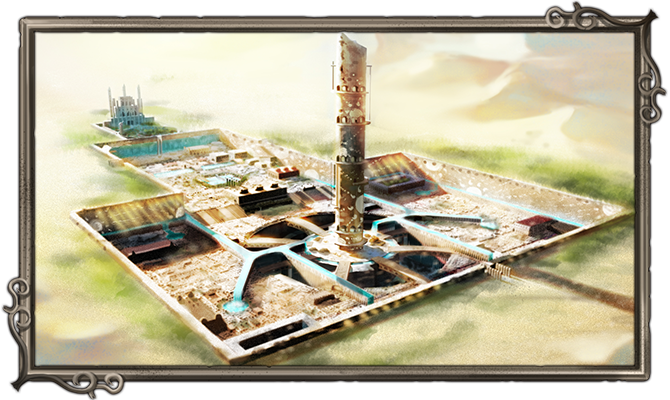 An overview of Shirin, the Oasis City.