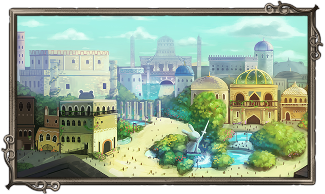 The rich district. The Royal Palace and entertainment await!