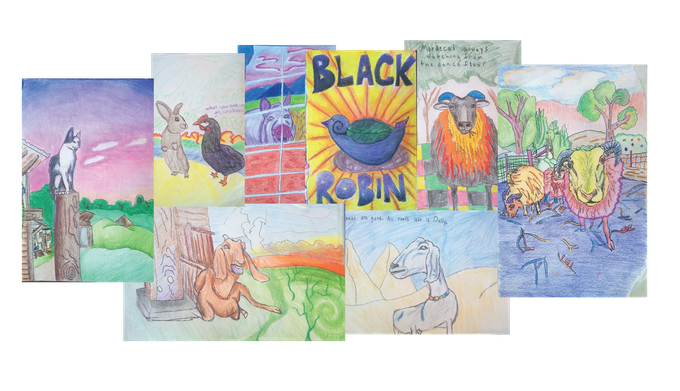 a lovable gang of farm animals turned into a colorful collection of coloring pages...and an idea was born