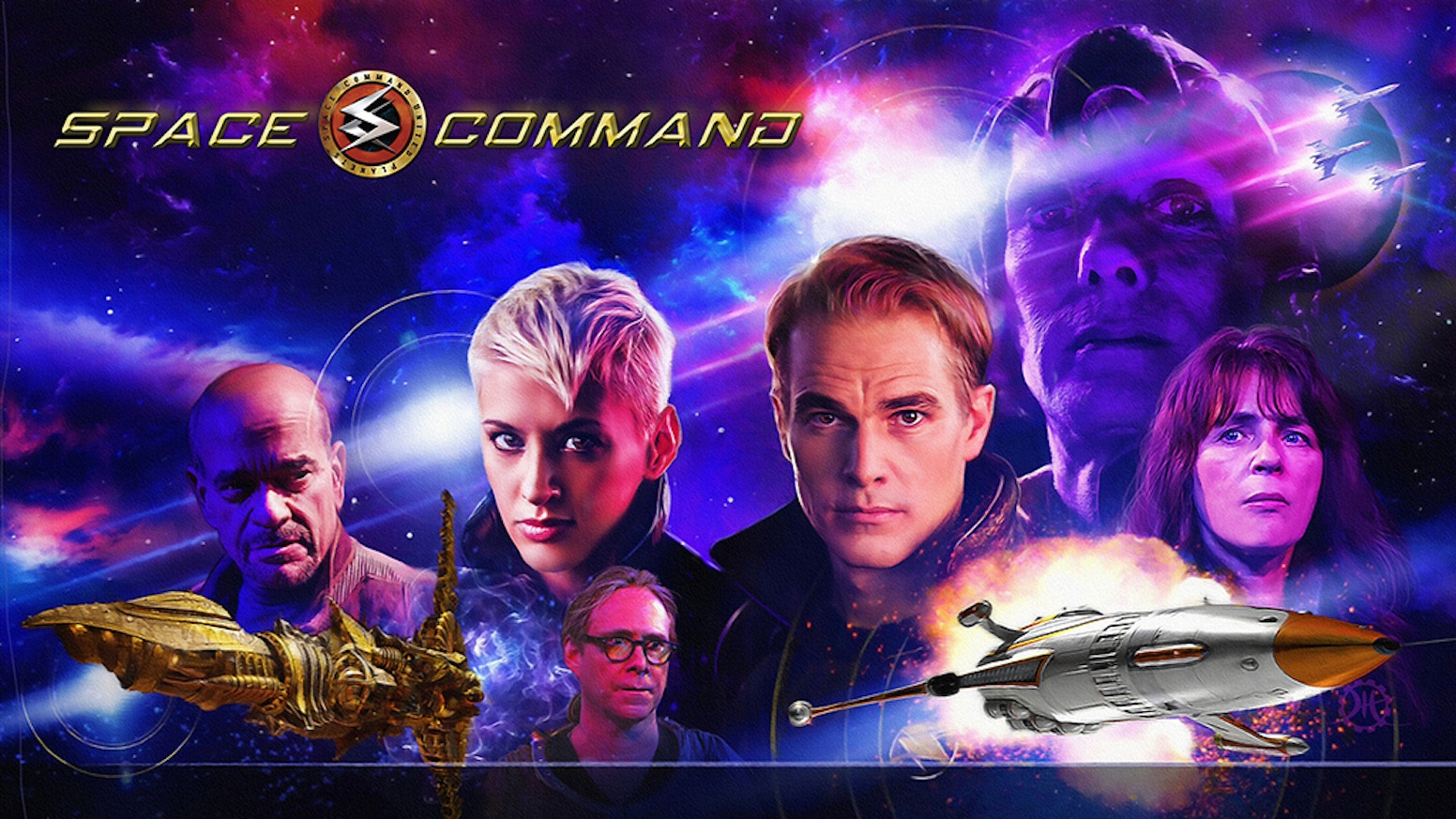 SPACE COMMAND is a bold, new sci-fi adventure, starring sci-fi legends. It has a retro feel and an optimistic view of the future.