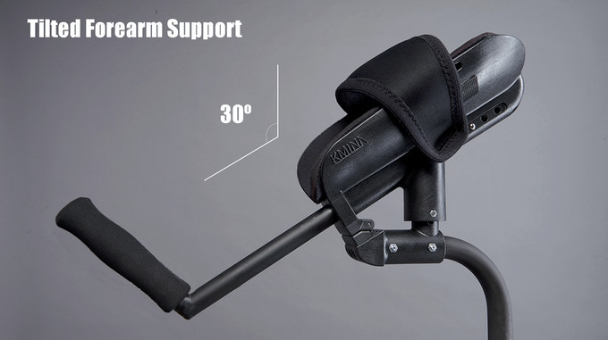 Tilted forearm support
