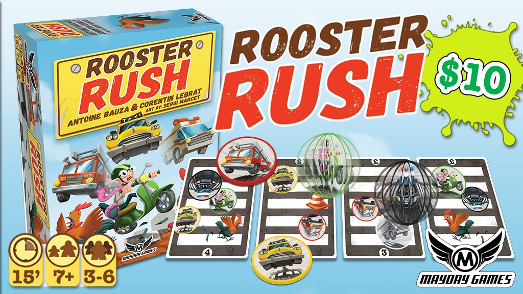 Rooster Rush Dexterity Game -Antoine Bauza & Corentin Lebrat project video thumbnail