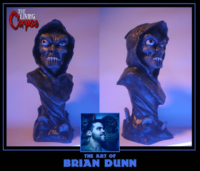 Living Corpse bust (14 inches tall) sculpted by Brian Dunn.