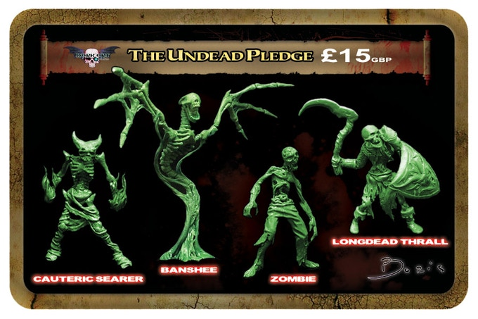 Undead minis will all be cast in a lead free alloy metal
