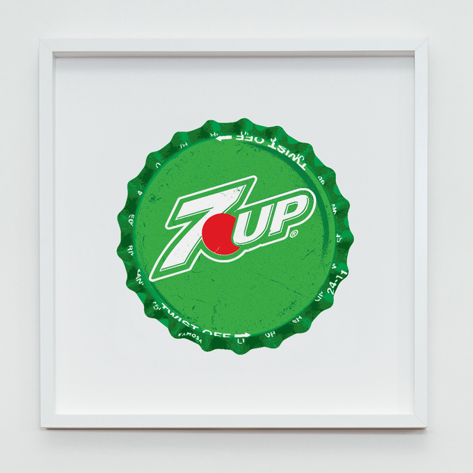 7UP Fine Art Screenprint - Size: 500mm x 500mm