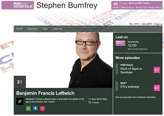 Stephen Bumfrey of BBC Radio Norfolk