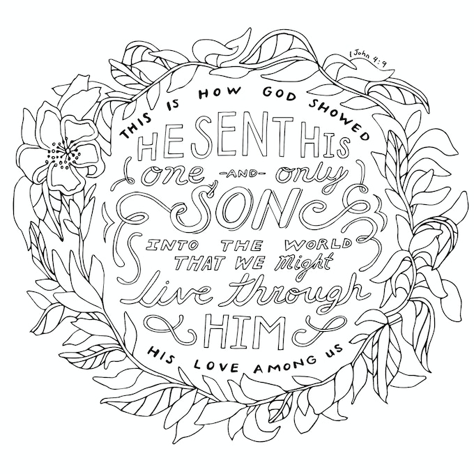 the Gospel Coloring Book: Color Words of God by Arree