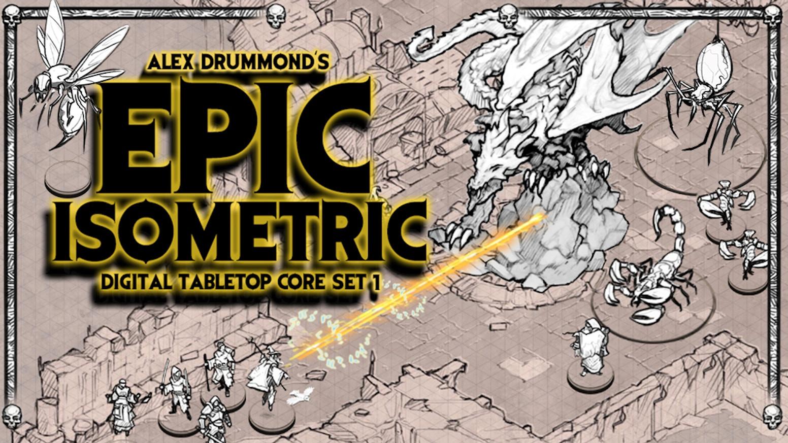 Epic digital tabletop art core set  by Alex Drummond — Kickstarter