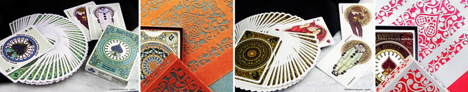 NOUVEAU & NOUVEAU BOURGOGNE Playing Cards (©Anthony Ingrassia - sparkz) & Gran Reserva boxes