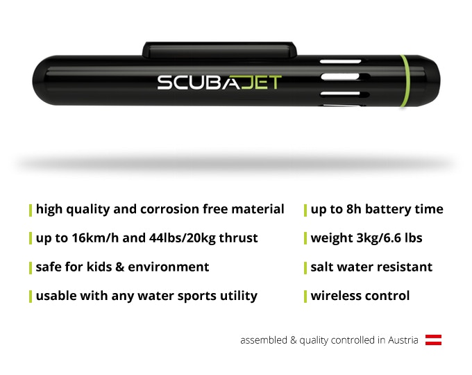 SCUBAJET  Most versatile electric water sports jet-engine by