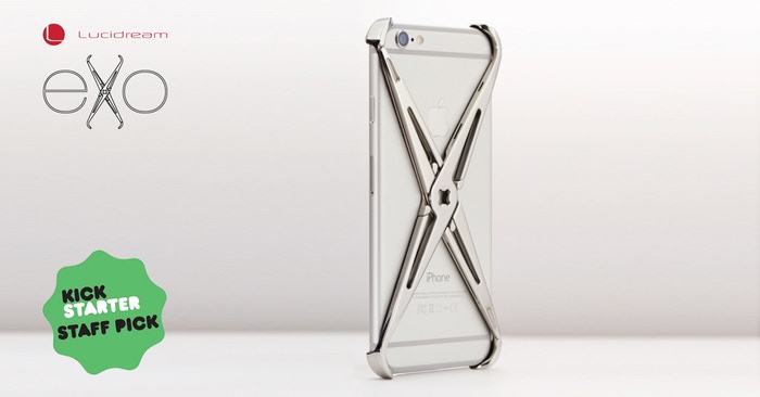 A Premium Stainless Steel impact absorbing iPhone case, with an integrated accessories connection, enabling functional customization.