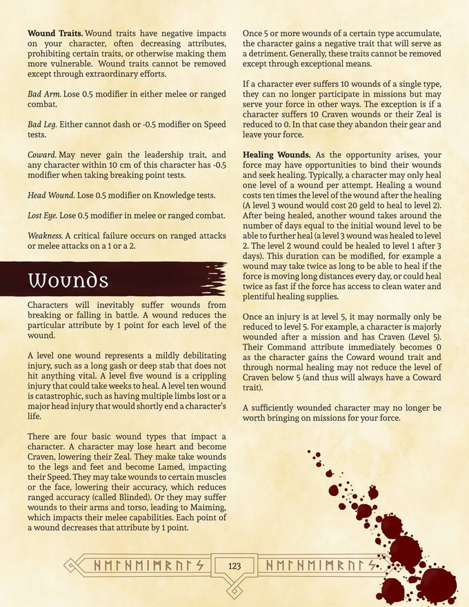 Sample page from the Gamemaster's Manual
