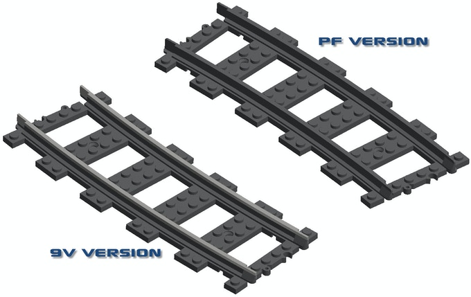 Comparison of PF and 9V R104 curve track