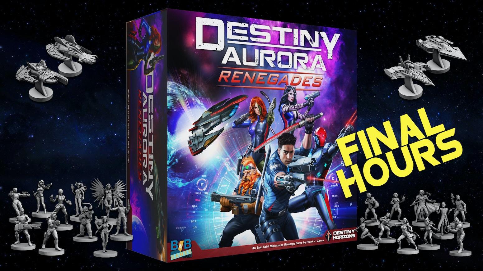 Destiny Aurora: Renegades is a uniquely immersive sci-fi game miniatures Board Game