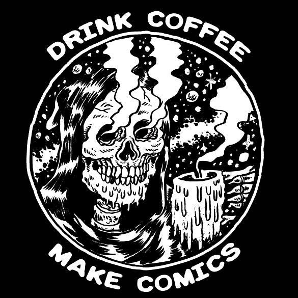 DRINK COFFEE/MAKE COMICS SHIRT DESIGNED BY ALEXIS ZIRITT!