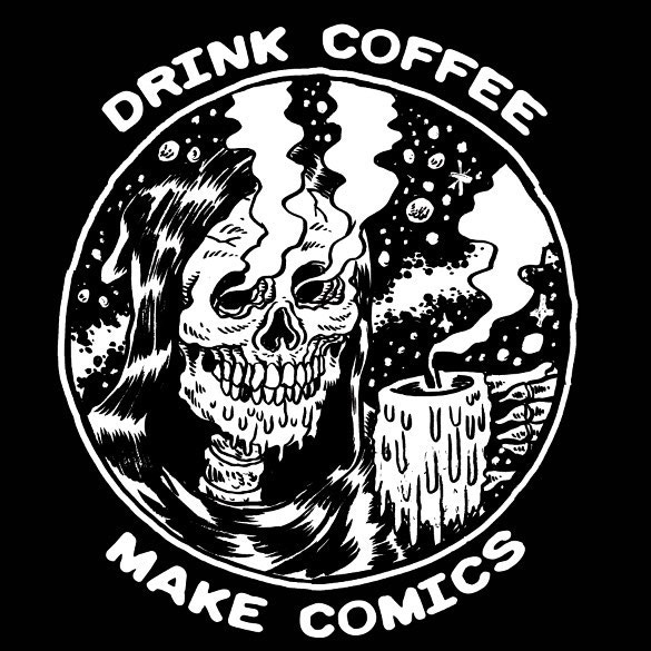 DRINK COFFEE/MAKE COMICS SHIRT DESIGNED BY ALEXIS ZIRITT!