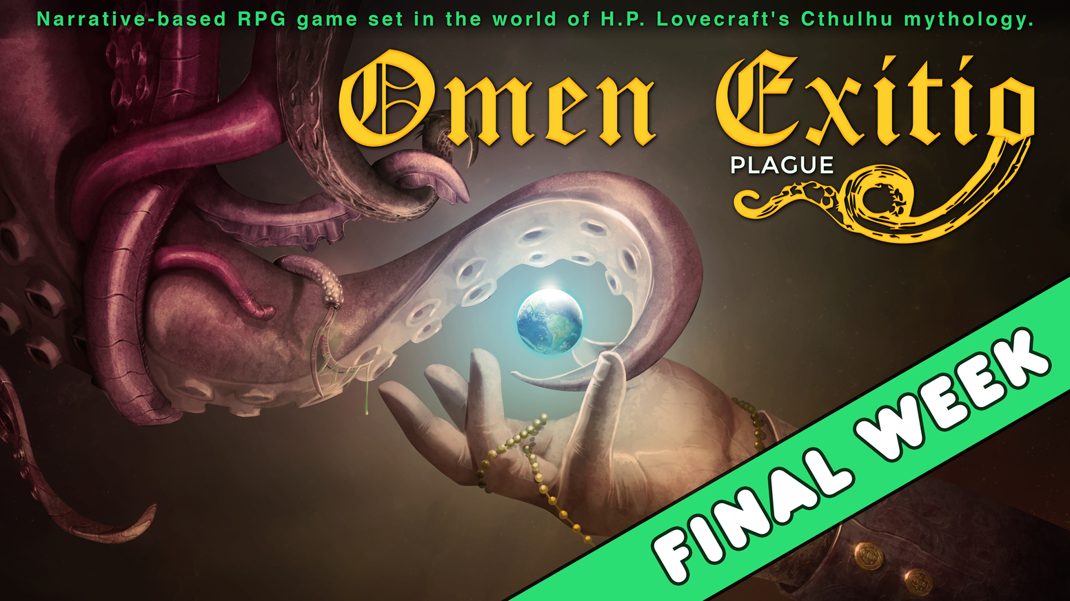 A narrative-based RPG game which draws from the old gamebook genre, set in the world of H.P. Lovecraft's Cthulhu mythology.