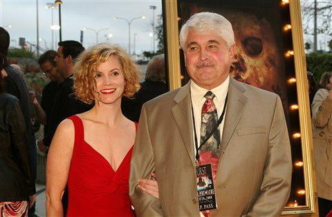 """Amy and her dad on the """"Amhurst"""" red carpet"""