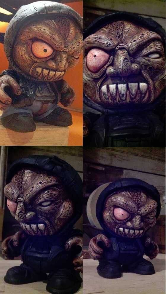 Living Corpse custom figure sculpted by Josh Milleker and painted by Eric Hooven