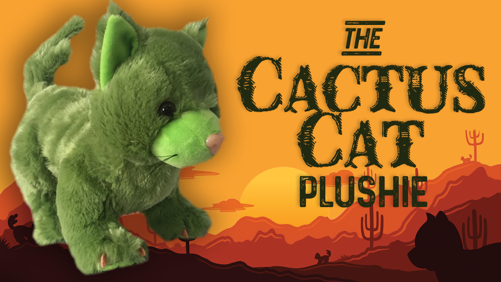 Cactus Cat Plushie - Your fluffy, prickly magical friend project video thumbnail