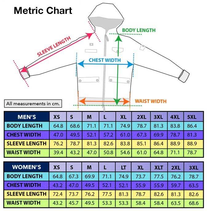 Metric Sizing Chart