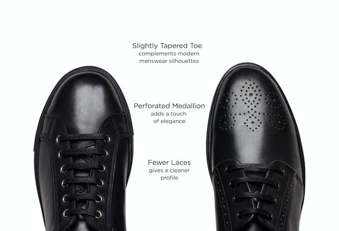 A regular sneaker vs. the Windsor