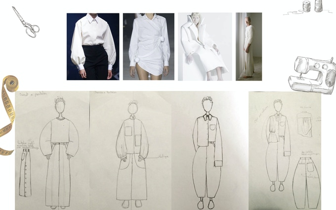 Inspirations et croquis du costume // Inspirational images and sketches of the costume