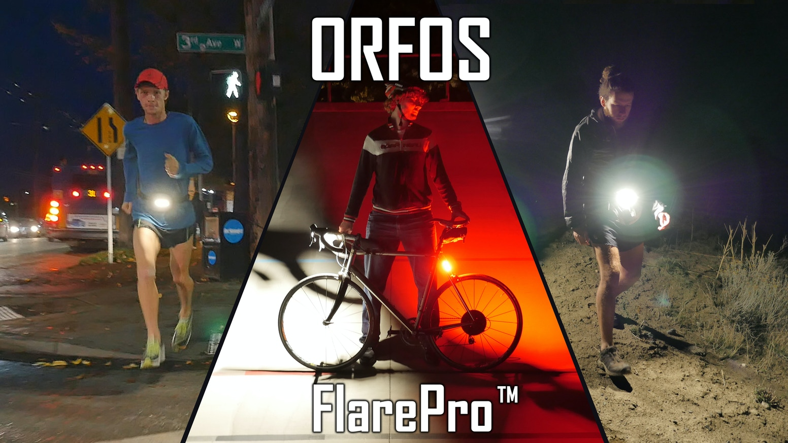 The Ultimate 360° lights for all your activities. Turn night into day with the World's Brightest LED flares. Hike. Bike. Run. etc.