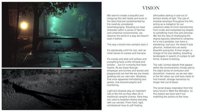 film treatment template - walk the wonders music video by will carly kickstarter