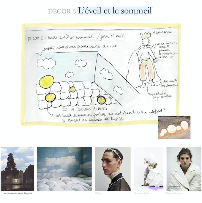 L'éveil et le sommeil. Croquis et images d'inspiration. // AWAKENING AND SLEEP. Sketches and inspirational images.