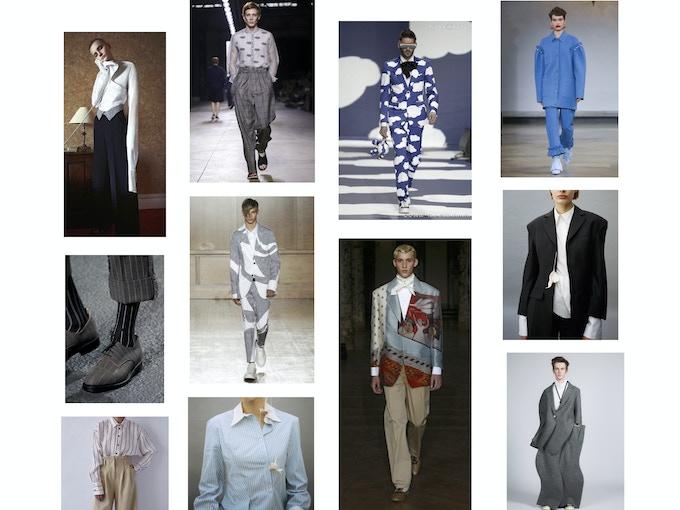 Stylisme pour l'ensemble de la série « Entre l'Est et l'Ouest ». Intentions de tenues vestimentaires pour habiller Maurice sur les 4 décors. Pour chaque décor, une tenue.