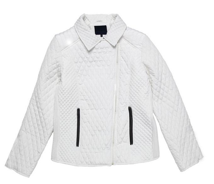 Womens White Bubble Jacket