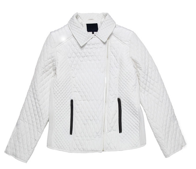 Womens White Bubble Jacket